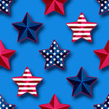 USA stars seamless pattern Royalty Free Stock Images