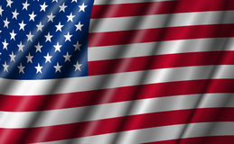 USA Stars and Stripes Flying American Flag. Illustration Stock Photography