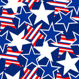 USA stars and stripes seamless pattern.  Royalty Free Stock Images