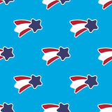 USA stars and stripes seamless pattern on blue background Royalty Free Stock Images