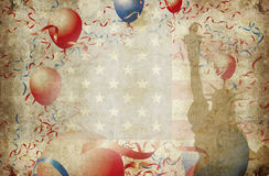 Usa 13 stars 2. Us flag with 13 stars balloons and statue of liberty Stock Photos