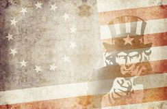 Usa 13 stars 1. Us flag with 13 stars and uncle sam Stock Photos