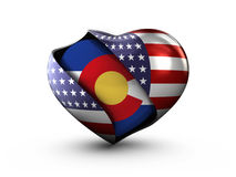 USA State Colorado flag on white background. Stock Images