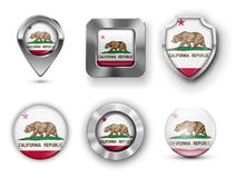 USA State Flag Badges Stock Photo