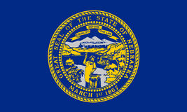 USA State Flag. Nebraska USA State Flag. Vector Illustation Stock Photography
