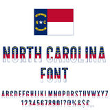 USA state font Stock Images