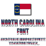 USA state font Royalty Free Stock Images