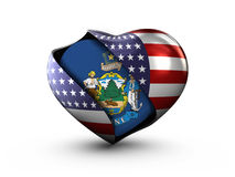 USA State Maine flag on white background. Royalty Free Stock Images