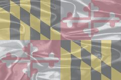 Maryland State Silk Flag. The USA state of Maryland state flag Stock Photo