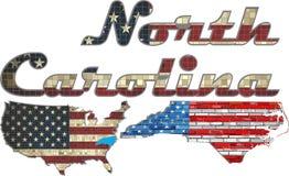 USA state of North Carolina on a brick wall Stock Photography