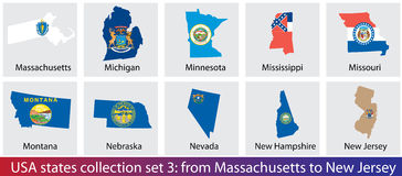 USA states collection Stock Photography