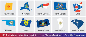 USA states collection Stock Images