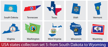USA states collection Stock Photos