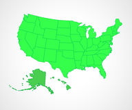 USA states -  illustration. Royalty Free Stock Photography