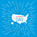 USA states independence day vector illustration Stock Photo