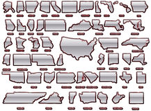 USA states map set Royalty Free Stock Photo