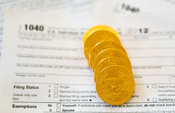 USA-Steuerformular 1040 für Jahr 2012 Lizenzfreies Stockfoto