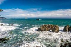 USA Stillahavskusten, båge vaggar, den Oregon staten Arkivfoto
