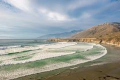 USA Stillahavskusten, strand för sanddollar, stora Sur, Kalifornien Fotografering för Bildbyråer