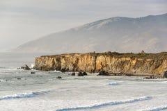 USA Stillahavskusten, strand för sanddollar, stora Sur, Kalifornien Arkivbild