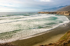 USA Stillahavskusten, strand för sanddollar, stora Sur, Kalifornien Arkivbilder