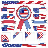 Usa stitched ribbons Stock Photos