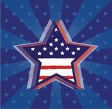 USA stjärna Arkivbilder