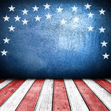 USA style background. USA colors empty interior room with free space for text or product displays Stock Photography