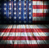 USA style background. Empty wooden room for display montages Stock Images