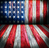 USA style background. Empty wooden room for display montages Royalty Free Stock Photo