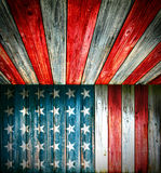 USA style background - empty wooden room Stock Photography