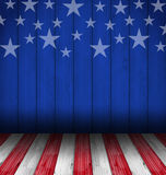 USA style background, empty wooden table Stock Photos