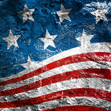 USA style background. On old grunge wall Royalty Free Stock Images
