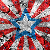 USA style background. On old grunge wall Royalty Free Stock Photography