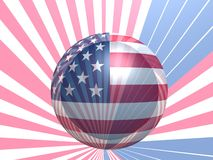 USA styled flag. Styled by sphere national flag of United States of America Stock Image