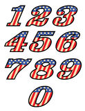 USA styled numbers Stock Image