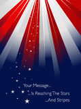USA styled sunburst Royalty Free Stock Images