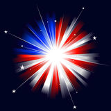 USA styled sunburst Stock Photo