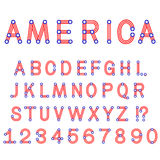 USA symbol alphabet letters isolated Stock Images