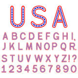 USA symbol alphabet letters isolated Stock Photography