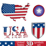 USA symbol set Royalty Free Stock Photos