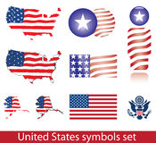 USA symbols set Royalty Free Stock Image
