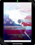 USA-Tablette PC Notizbuch Lizenzfreie Stockfotos