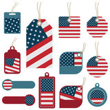 Usa tags Royalty Free Stock Images