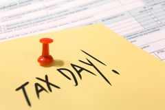USA tax day april 15 2019 royalty free stock image