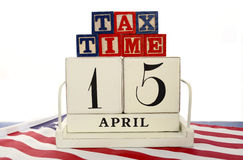 USA Tax Day, April 15, concept. Royalty Free Stock Images