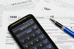USA tax form 1040 for year 2012 Royalty Free Stock Image