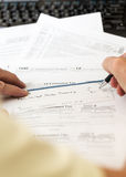 USA tax form 1040 for year 2012 with check Stock Images