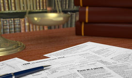 Usa taxes Stock Photo