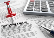 Usa taxes Royalty Free Stock Photo